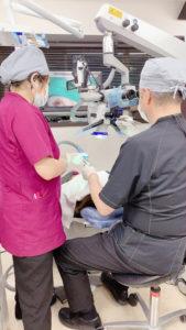 マイクロスコープを使用した根の治療、マイクロエンド治療